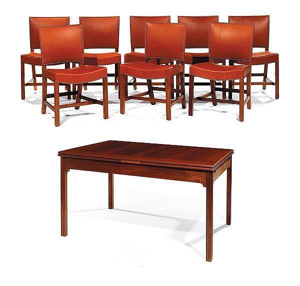 Kaare klint 1888 1954 ruud rasmussen diteur salle m - Table et chaise a manger ...
