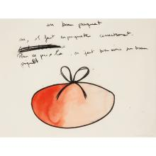 Fabrice Hyber (né en 1961) Un beau paquet, 2000 Watercolor and charcoal on paper; signed and dated lower right 49 x 65 cm - 19...