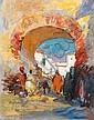CHARLES DAGNAC-RIVIERE (1864-1945) ANIERS A L'ENTRÉE DE LA MEDINA Aquarelle et gouache sur papier signée en bas à gauche, Charles Henri Gaston Dagnac-Rivière, Click for value
