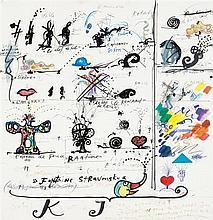 Niki de Saint Phalle (1930-2002) et Jean Tinguely (1925-1991) Fontaine Stravinsky, 1983