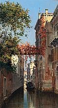 Antonietta Brandeis (1849-1910) Vue du Palazzo Contamini Huile Oil on panel Signed lower right  - 10 1/4 x 5 7/8 in