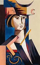 Natalia Gontcharova (1881-1962) Portrait de jeune femme, vers 1916