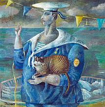 Elisabeth Taggart (née en 1943) Marvin avec chat