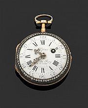 L'EPINE, HORLOGER DU ROY, à PARIS SECONDE MOITIÉ DU XVIIIème siècle Montre de poche en or rose époque Louis XVI. Lunettes ciselées e...