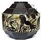 Charles CATTEAU (1880-1966) Spectaculaire vase en grès, 1928,