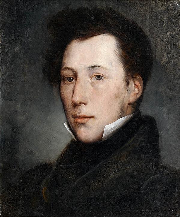 ARY SCHEFFER (DORDRECHT 1795 - ARGENTEUIL 1858) PORTRAIT DE MONSIEUR BARRILLON Sur sa toile d'origine 45 X 36 CM Signée en bas à gau...