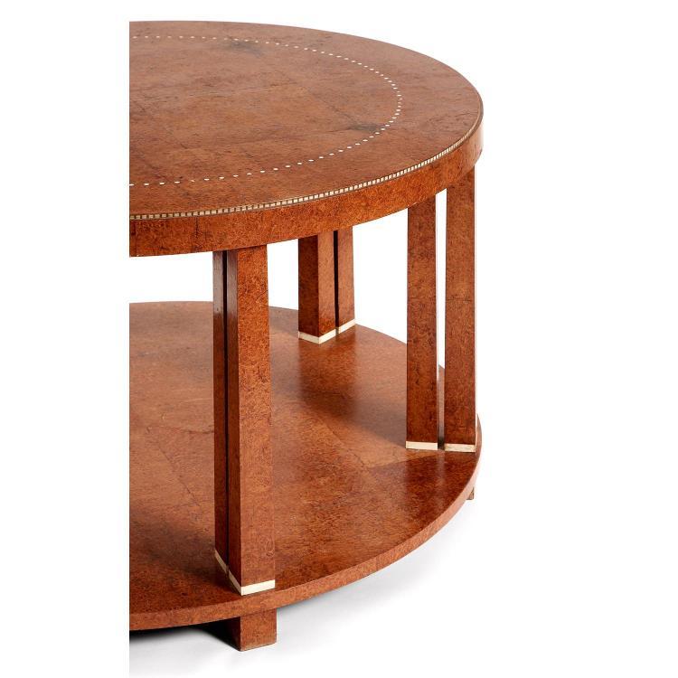 Mile jacques ruhlmann 1879 1933 table basse circulaire do - Pietement table basse ...