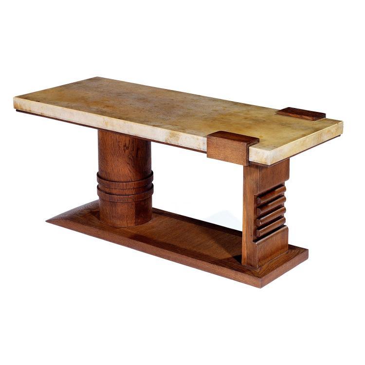 ann es 40 table basse en noyer et placage de noyer structur. Black Bedroom Furniture Sets. Home Design Ideas