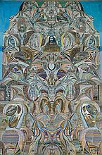 Augustin Lesage (1876-1954) Composition symbolique - L'énigme des siècles, 1929 Huile sur toile Titrée en bas Signée en bas à droite...