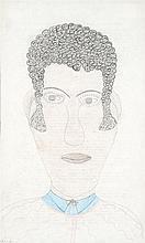 Inez Nathaniel Walker (1911-1990) Portrait d'homme Crayon sur papier 36 x 22SEcm