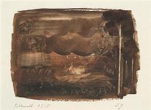 Eugène Gabrichevsky (1893-1979) Fichtenwald, 1935 Aquarelle sur papier Titrée et datée 8.I.1935 en bas à gauche Signée des initiales...