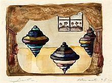 Eugène Gabrichevsky (1893-1979) Nature morte, 1935 Aquarelle sur papier Signée en bas à gauche Tirée et datée