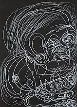 Dwight Mackintosh (1906-1999) Personnage Craie sur papier 25 X 36cm
