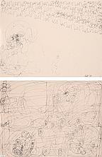 Dwight Mackintosh (1906-1999) Voiture, 1991 Dessin recto/verso Encre sur papier Signée et datée