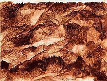 Raphaël Lonné (1910-1989) composition, 1969 Technique mixte sur papier Signée en bas au milieu Datée au dos 2