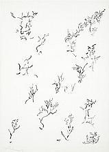 Thérèse Bonnelalbay (1931-1980) Composition Encre sur papier Signée au dos 32 x 23,5cm
