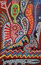 Kurt Josef Haas (Né en 1935) Composition, 1994 Gouache sur papier Signée et datée