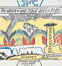 Royal Roberston The wrath of god Feutre sur papier 57 x 54cm