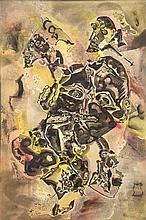 Charles Keeling Lassiter (1926) Un homme d'importance, 1968 Huile sur toile Signée en bas au milieu et datée au dos 90 x 60cm