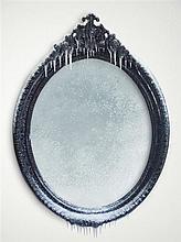 Laurent Pernod Mon beau miroir, 2014 Pièce unique Dimensions 112x145x13cm Miroir, bois, peinture acrylique, métal, résine, neige et ...