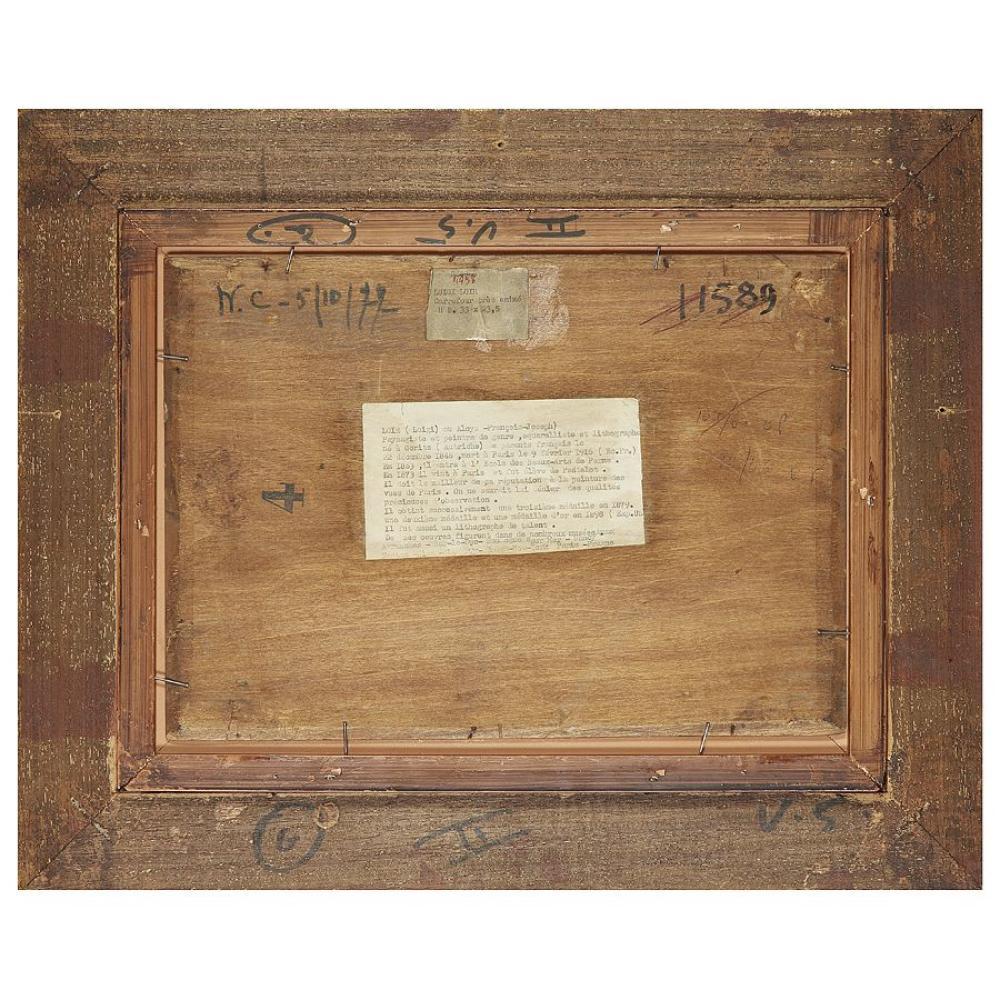 LUIGI LOIR (1845-1916) VUE DE SAINT-EUSTACHE, PARIS Oil on panel; signed lower right 23,5 X 33 CM - 9 1/4 X 13 IN. Collection particu