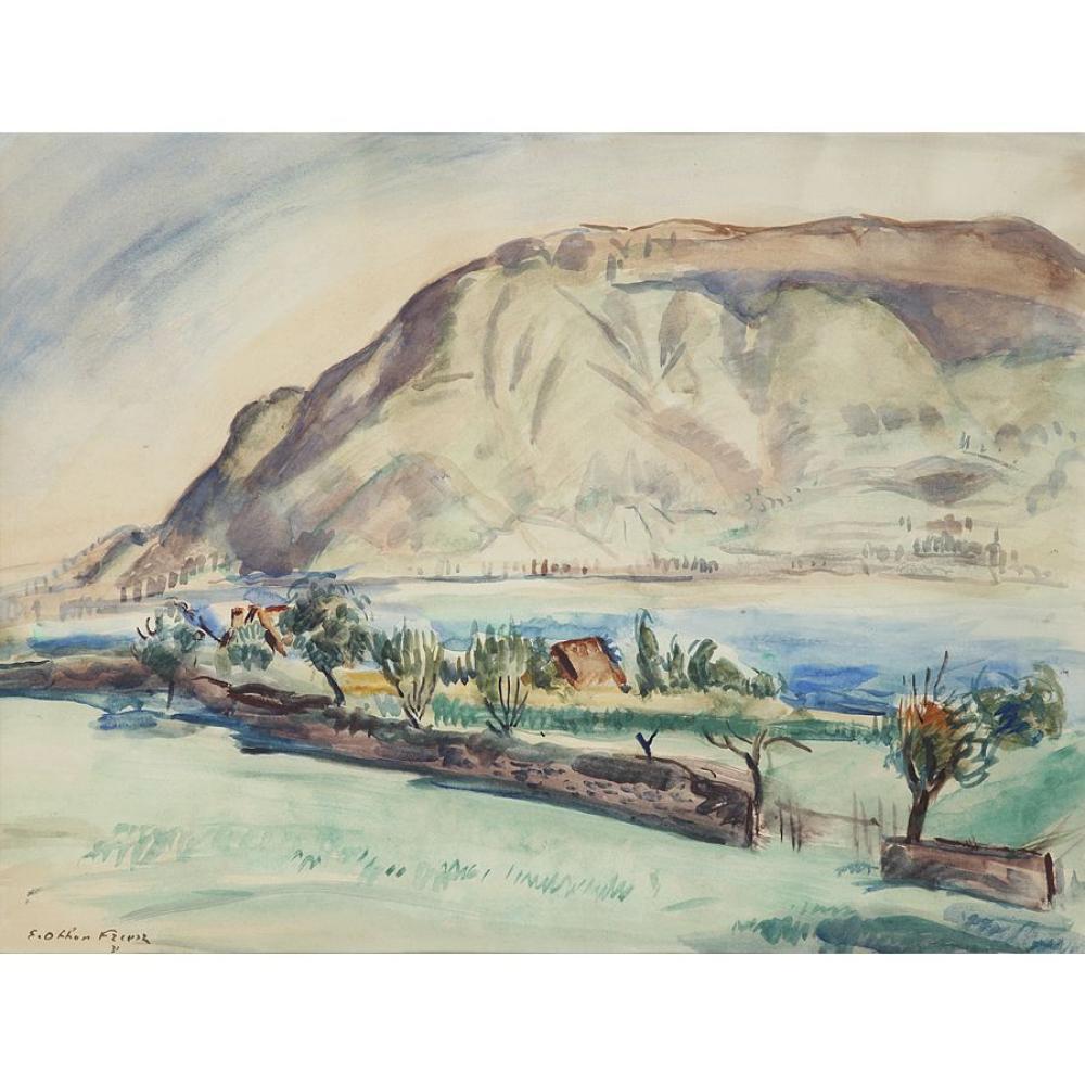 OTHON FRIESZ (1879-1949) LAC ET MONTAGNES DE PROVENCE, 1931 Watercolour on paper; signed and dated lower left 42,5 X 56,5 CM - 16 3/4