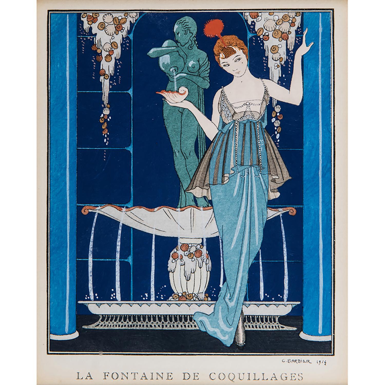 GEORGES BARBIER (1882-1932) LA FONTAINE DE COQUILLAGES