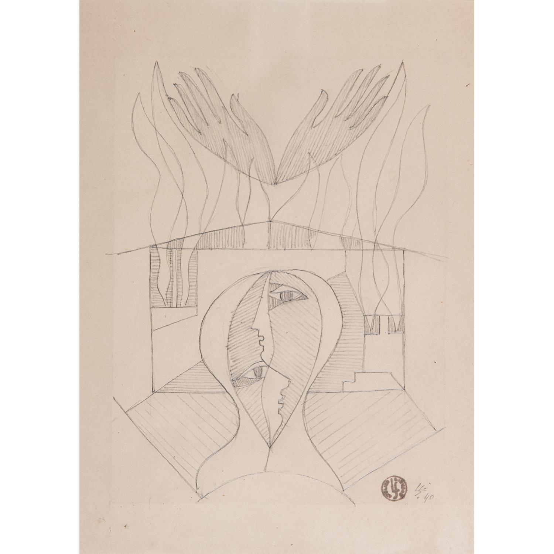 LÉOPOLD SURVAGE (1879-1968) VISAGES ENTRELACÉS, 1940