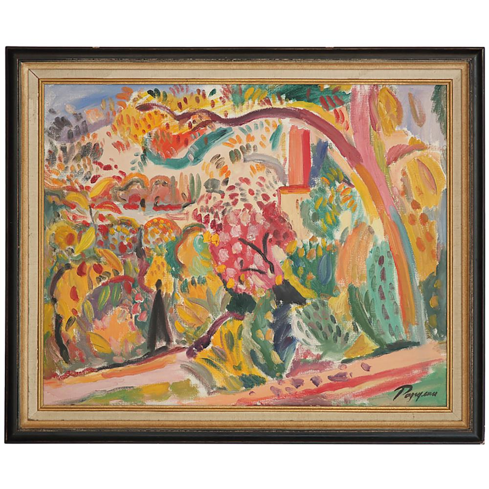 VIKTOR RAZGOULINE (NÉ EN 1948) ARBRES EN FLEURS AU PRINTEMPS, 1993