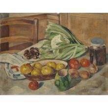 CHARLES KVAPIL (1884-1957) NATURE MORTE AU CHOU-FLEUR