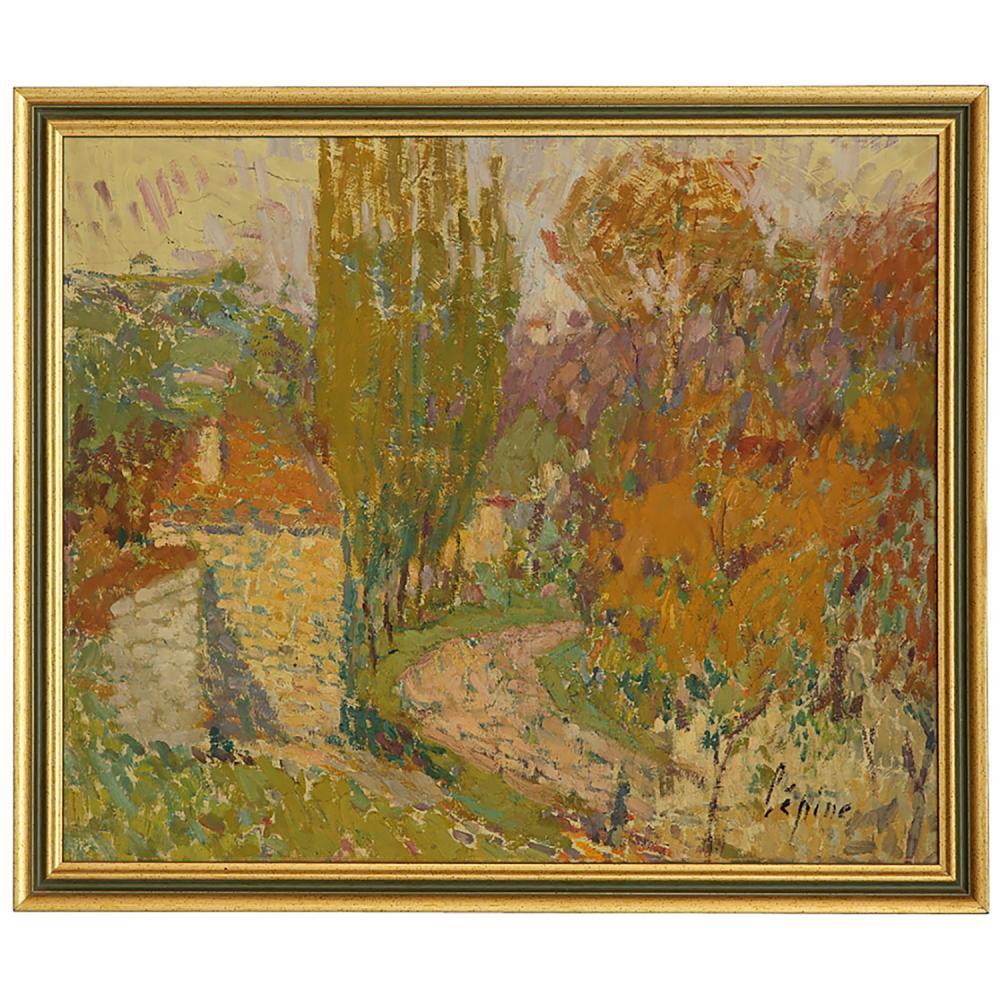 JOSEPH LÉPINE (1867-1943) AUTOMNE À VERDELAIS, GIRONDE, VERS 1925 Huile sur panneau Signée en bas à droite Oil on panel;...