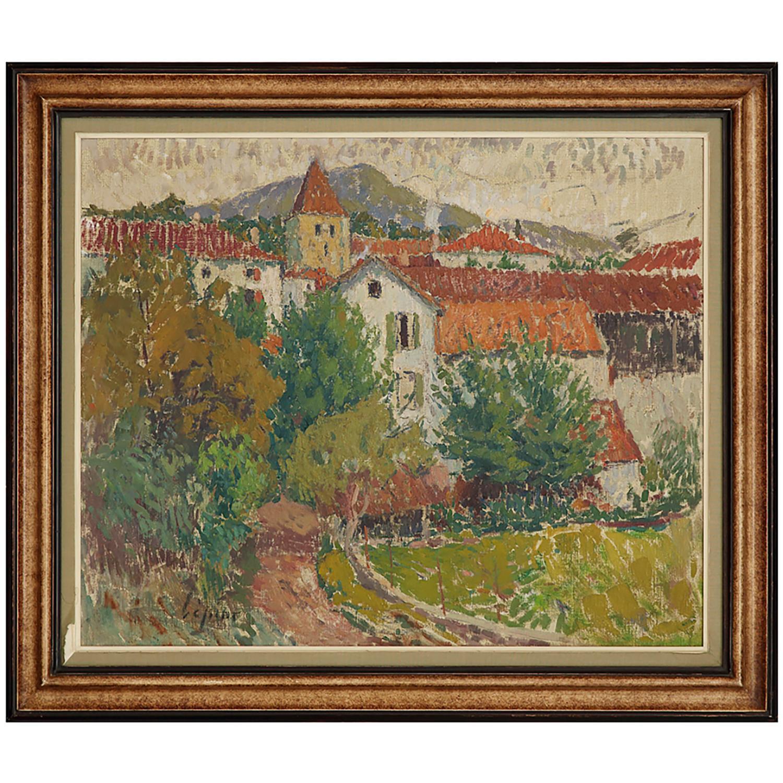 JOSEPH LÉPINE (1867-1943) VUE DE LOUHOSSOA, PAYS-BASQUE, VERS 1930 Huile sur toile Signée en bas à gauche Oil on canvas;...