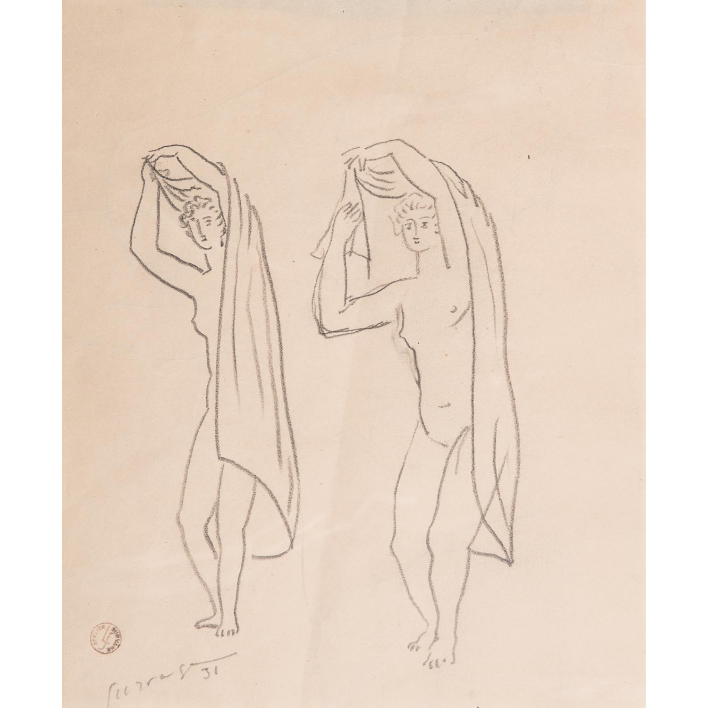 LÉOPOLD SURVAGE (1879-1968) ÉTUDE POUR DEUX NUS DEBOUT, 1931