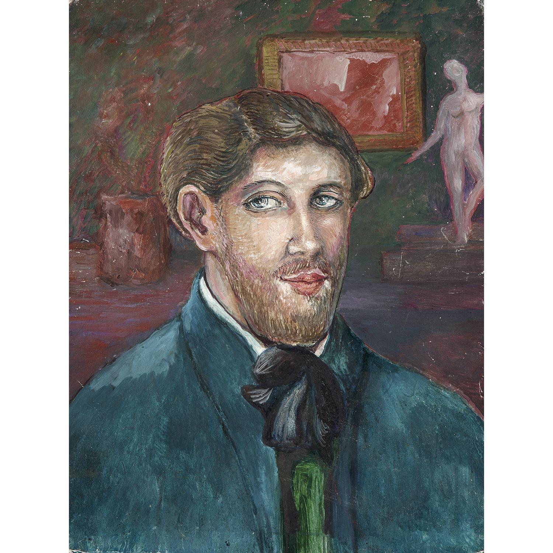 NIKOLAJ PAVLOVIC RJABUSINSKIJ (1877-1951) PORTRAIT DE L'ARTISTE PAR LUI-MÊME