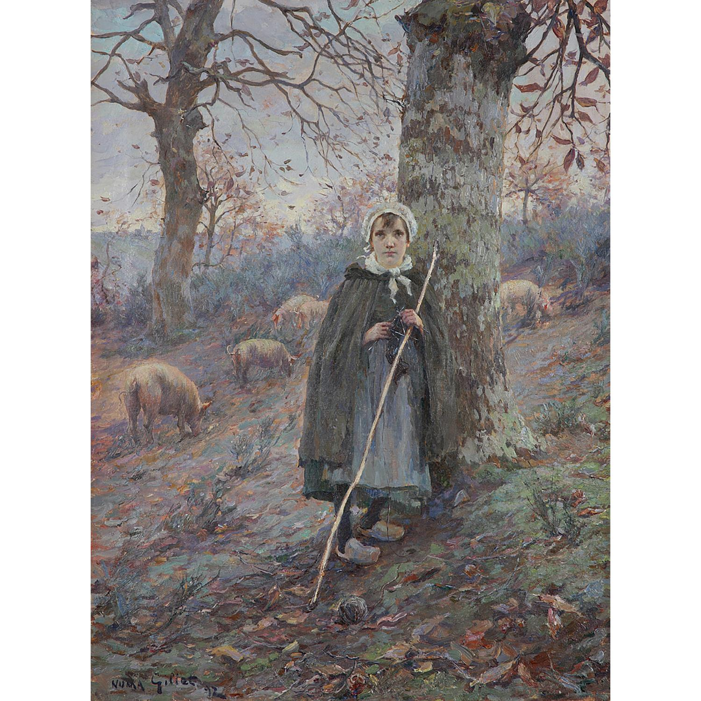 NUMA FRANÇOIS GILLET (1868-1940) LA VISION, 1892 Huile sur toile Signée et datée '[18]92' en bas à gauche Oil on canvas;...