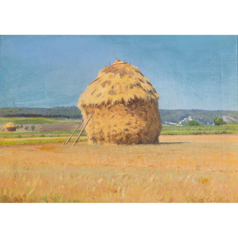 CHARLES VICTOR GUILLOUX (1866-1946) PAYSAGE À LA MEULE, 1899