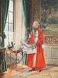 Alfred WEBER (Schaffhouse1859—1931) «Oh les bandits! » Aquarelle gouachée 34 x 26 cm Signé en bas à droite, Alfred Weber, Click for value