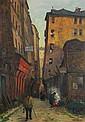 Charles Jean FORGET (1886-1960) La rue de Venise, Paris, 1957 Huile sur toile Signée, dédicacée et datée