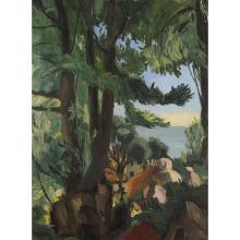 CHARLES KVAPIL (1884-1958) CHÂTAIGNIERS EN CORSE, 1933 Huile sur toile Signée et datée '1933' en bas à gauche Titrée et loc...