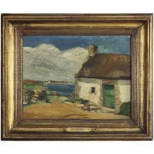 CHARLES KVAPIL (1884-1958) MAISON À PONT-LE-ROI, MORBIHAN Huile sur panneau Signée en bas à gauche Titrée au dos Oil on...