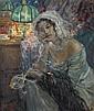 Ulisse Caputo (1872-1948) Femme au miroir Huile sur toile Signée en bas à gauche 83 x 71 cm, Ulisse Caputo, Click for value