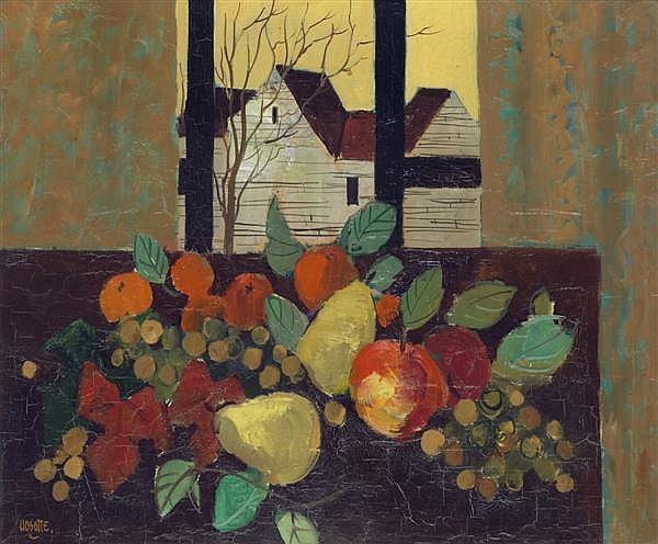 Georges HOSOTTE (1936) La fenêtre ouverte sur le ciel jaune, 1974 Huile sur toile Signée en bas à gauche Titrée, contresignée et dat...