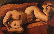 Marcel Gromaire (1892-1971) Nu allongé, 1919 Huile sur toile Signée et datée en bas à droite Contresignée, titrée et datée