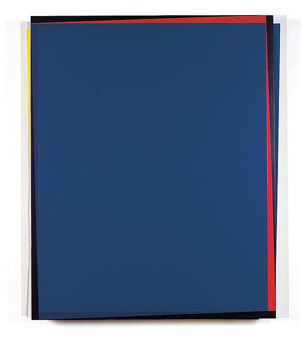 René Ugarte (NÉ EN 1951) Bords chromatiques, 2012 Acrylique sur panneau et plexiglas Signé, titré et daté au dos Acrylic on panel an...