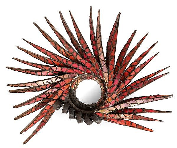 Line vautrin 1913 1997 miroir cr te de coq structure ci for Miroir line vautrin