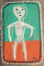 Victor Brauner (1903-1966) Personnage, 1948 Gouache sur papier Signée du monogramme en et datée en bas à droite 76 x 50 cm