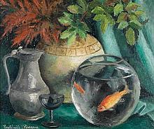 Paul Émile Pissarro (1884-1972) Nature morte Huile sur toile Signée en bas à gauche 54 x 65 cm