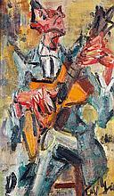 GEN PAUL (Eugène Paul dit) (1895-1975) Le guitariste Huile sur isorel Signée en bas à droite 55 x 33 cm