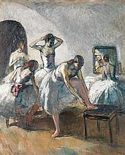 Jean Louis Marcel Cosson (1878-1956) Danseuses à l'opéra Huile sur toile Signée en bas à droite 73 x 60,5 cm
