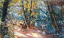 Camille Nicolas Lambert (1876-1963) La femme au chevalet Huile sur toile Signée en bas à droite 91 x 145 cm